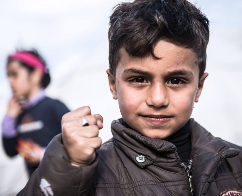 Refugee Boy on Lesvos Greece